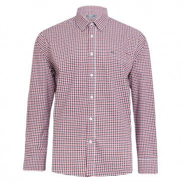 Peter Gribby Long Sleeved Check Shirt - Ruby