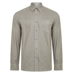 Peter Gribby Long Sleeved Flannel Plain Shirt